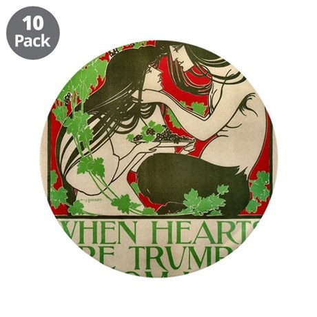 "ART NOUVEAU 3.5"" Button (10 pack)"