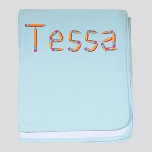 Tessa Pencils baby blanket