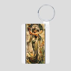 ART NOUVEAU Aluminum Photo Keychain