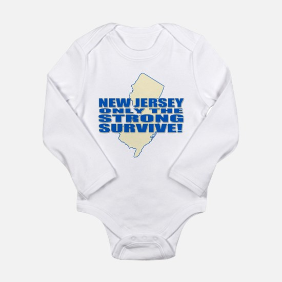 New jersey Strong Long Sleeve Infant Bodysuit