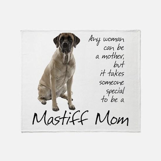 Mastiff Mom Throw Blanket
