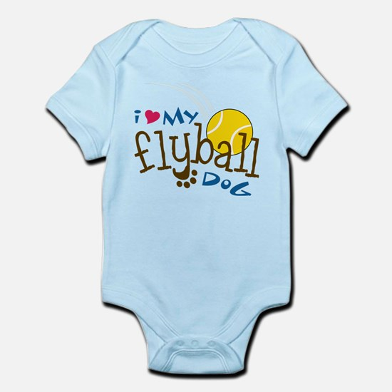 Fly Ball Dog Infant Bodysuit