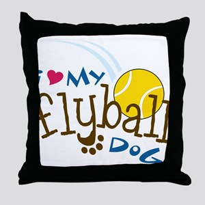 Fly Ball Dog Throw Pillow