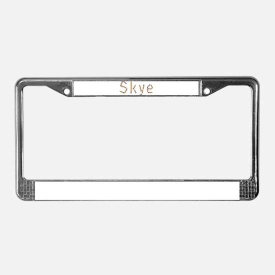 Skye Pencils License Plate Frame