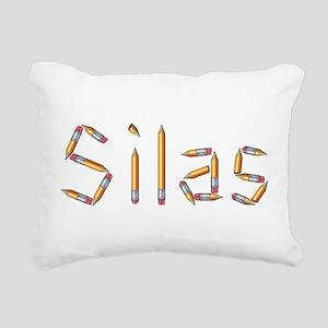 Silas Pencils Rectangular Canvas Pillow