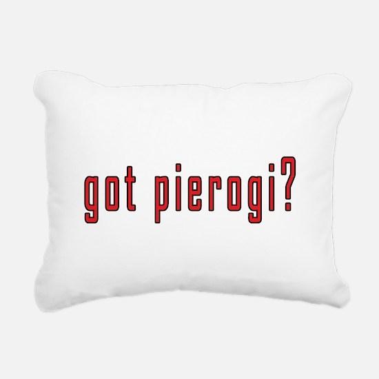 got pierogi? Rectangular Canvas Pillow