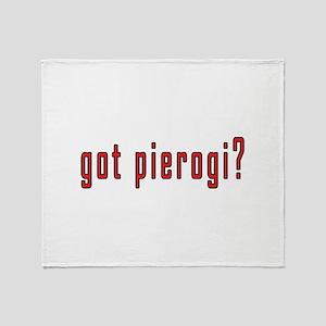 got pierogi? Throw Blanket