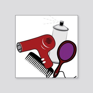 "Hair Styling Supplies Square Sticker 3"" x 3"""