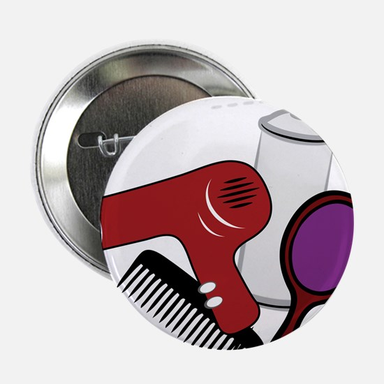 "Hair Styling Supplies 2.25"" Button"