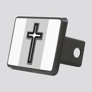 Black and Silver Cross Rectangular Hitch Cover