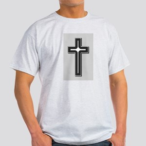 Black and Silver Cross Light T-Shirt