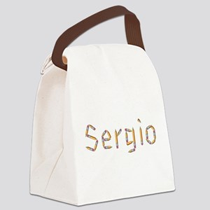 Sergio Pencils Canvas Lunch Bag