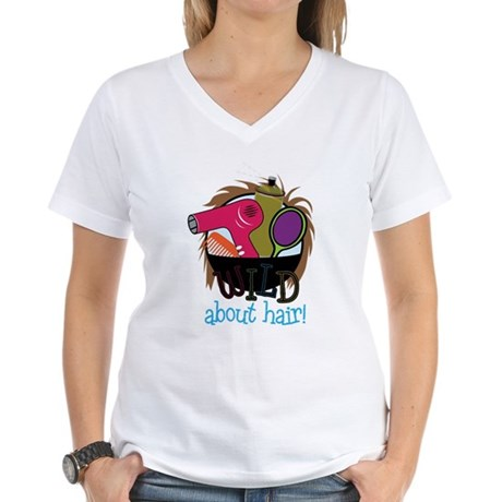 Wild About Hair Women's V-Neck T-Shirt