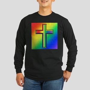Cross Pillow Long Sleeve Dark T-Shirt
