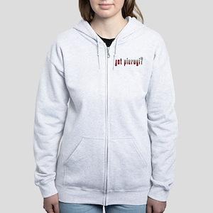 got pierogi? Flag Women's Zip Hoodie