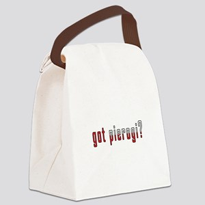 got pierogi? Flag Canvas Lunch Bag