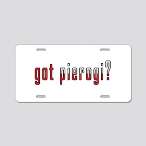 got pierogi? Flag Aluminum License Plate