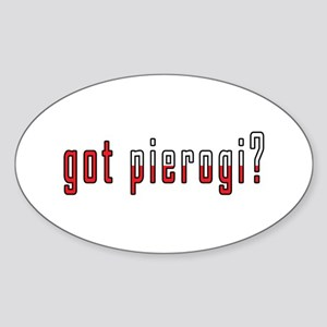 got pierogi? Flag Sticker (Oval)