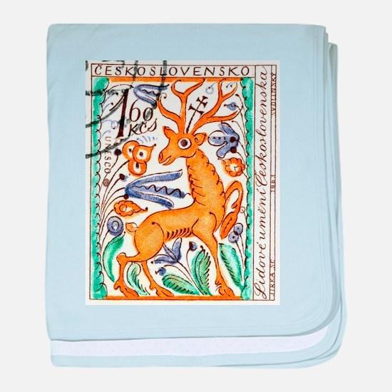 1963 Czechoslovakia Deer Art Postage Stamp baby bl