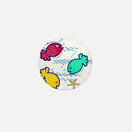Aquatic Fish Mini Button