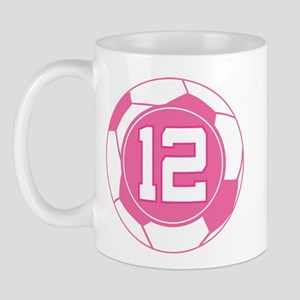 Soccer Number 12 Custom Player Mug
