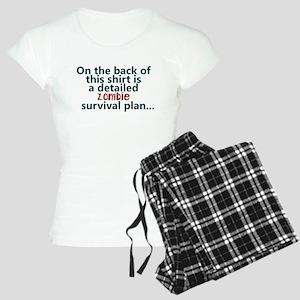 Zombie survival plan Women's Light Pajamas