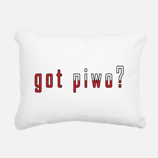 got piwo? Flag Rectangular Canvas Pillow