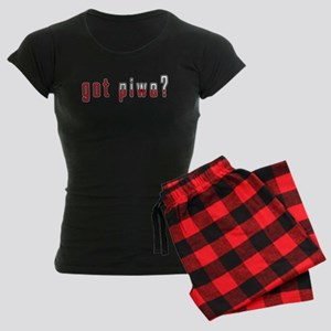 got piwo? Flag Women's Dark Pajamas