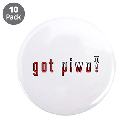 """got piwo? Flag 3.5"""" Button (10 pack)"""