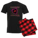 Valentine Fragile Heart Men's Dark Pajamas