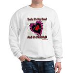 Valentine Fragile Heart Sweatshirt