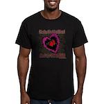 Valentine Fragile Heart Men's Fitted T-Shirt (dark