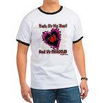Valentine Fragile Heart Ringer T