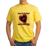 Valentine Fragile Heart Yellow T-Shirt