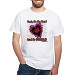 Valentine Fragile Heart White T-Shirt