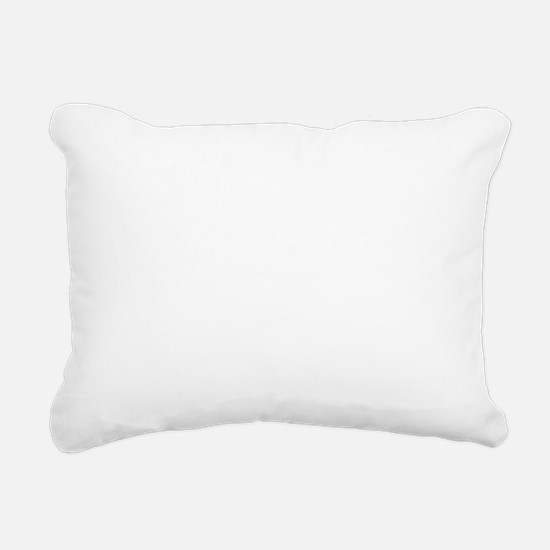 White stag deer head Rectangular Canvas Pillow