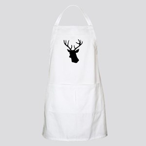 White stag deer head Apron