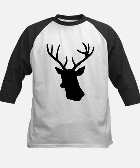 White stag deer head Kids Baseball Jersey