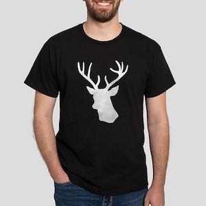 White stag deer head Dark T-Shirt