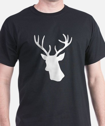 White stag deer head T-Shirt