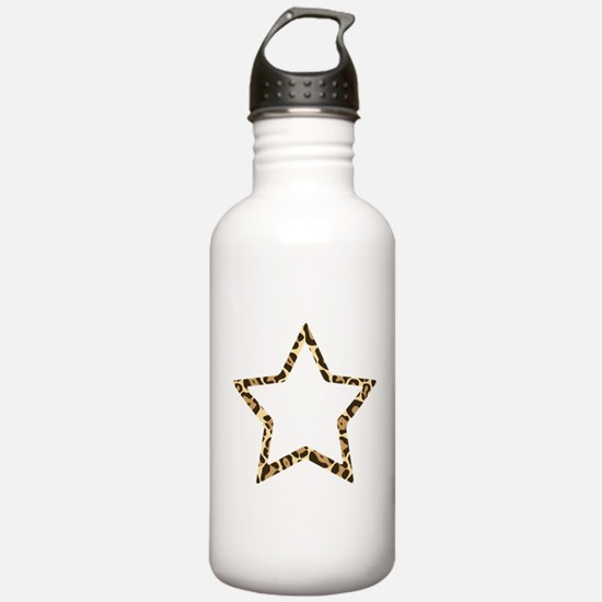 Leopard Star Water Bottle