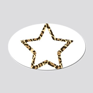 Leopard Star 20x12 Oval Wall Decal