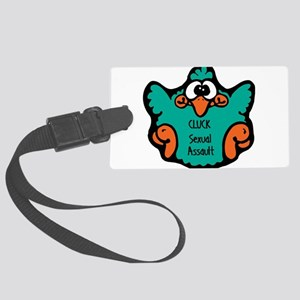 cluck-sexual-assault Large Luggage Tag