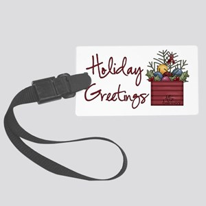 Holiday Greetings Large Luggage Tag