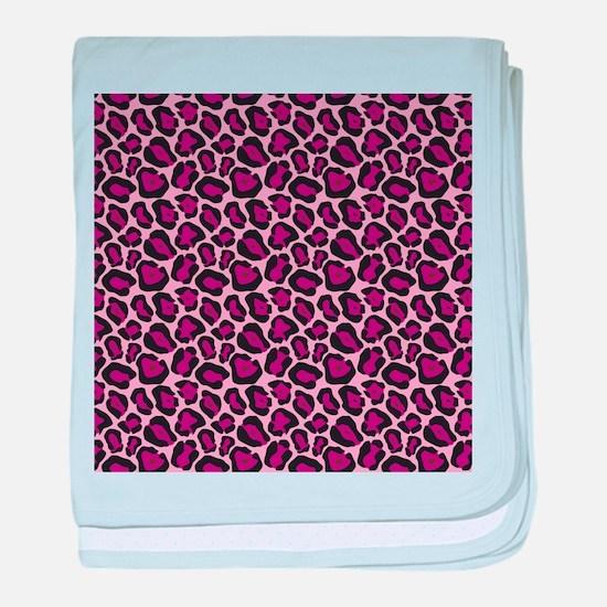 Hot Pink Leopard Print baby blanket