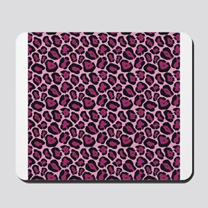 Hot Pink Leopard Print Mousepad