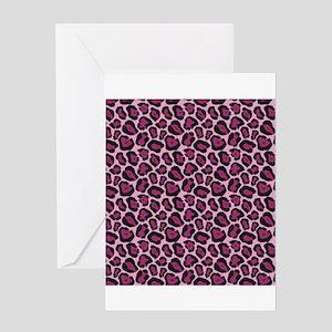 Hot Pink Leopard Print Greeting Card