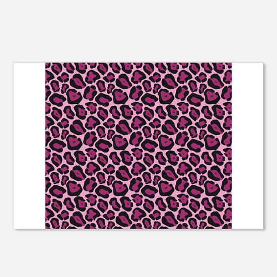 Hot Pink Leopard Print Postcards (Package of 8)