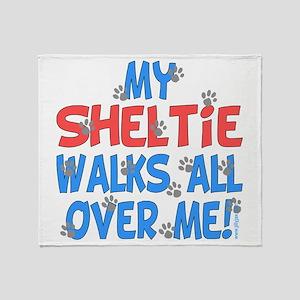 Sheltie Walks Throw Blanket
