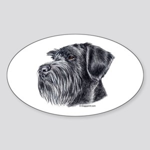 Giant Schnauzer Oval Sticker